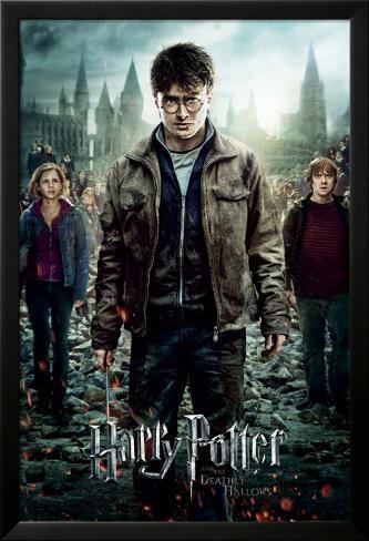 Harry Potter 7-Part 2 One Sheet Poster en laminé encadré