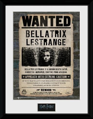 Harry Potter - Bellatrix Reproduction encadrée pour collectionneurs