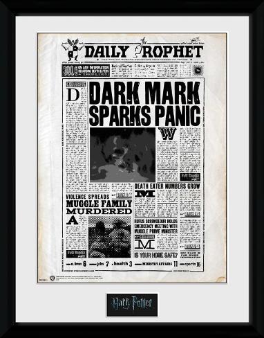 Harry Potter - Daily Prophet Reproduction encadrée pour collectionneurs