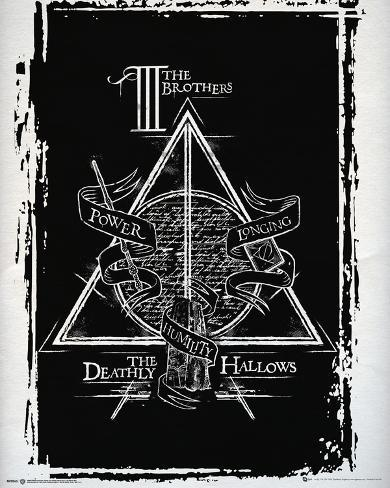 Harry Potter Deathly Hallows Graphic Mini-affiche