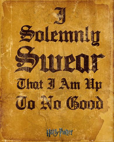 Harry Potter- I Solemnly Swear Mini-affiche