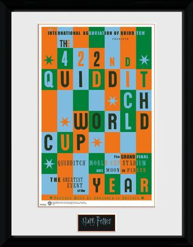 Harry Potter - Qiuidditch World Cup Reproduction encadrée pour collectionneurs