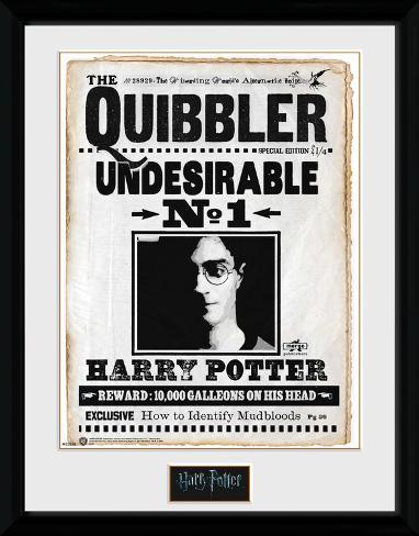 Harry Potter - Quibbler Reproduction encadrée pour collectionneurs