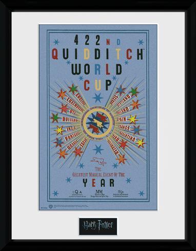 Harry Potter - Quidditch World Cup 2 Reproduction encadrée pour collectionneurs