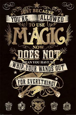 Harry Potter- Use of Magic Explained by Mrs. Weasley Poster