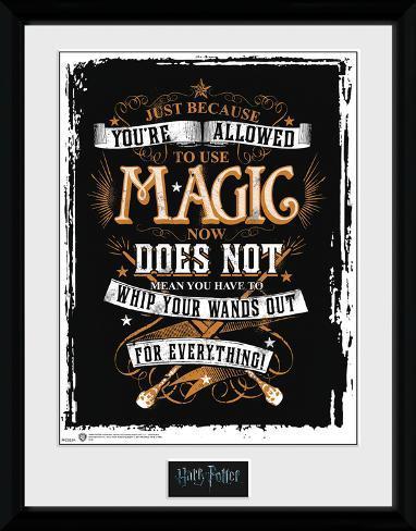 Harry Potter - Wands Out Reproduction encadrée pour collectionneurs