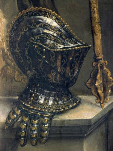 Helmet, Detail from Portrait of Pase Guarienti, by Paolo Veronese Reproduction procédé giclée