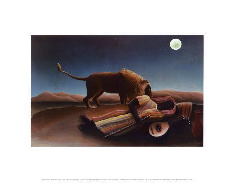 La gitane endormie, 1897 Reproduction d'art