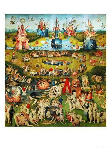 Le jardin des plaisirs terrestres: Enfer, panneau central Reproduction procédé giclée