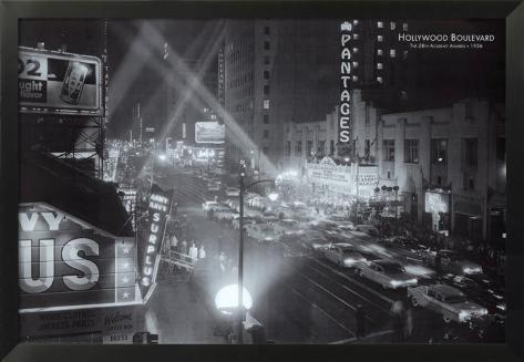 Hollywood Boulevard Affiche encadrée