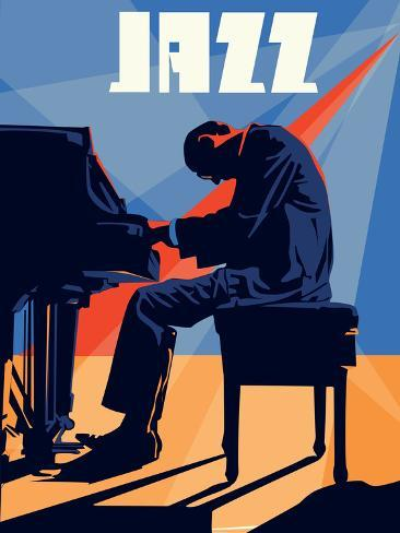 Homme au piano Poster
