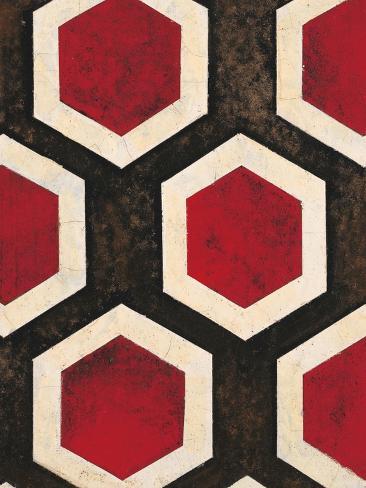 Hexagon Textile Reproduction giclée Premium