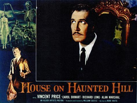 House On Haunted Hill, 1958 Reproduction d'art