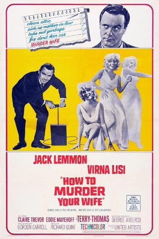 How to Murder Your Wife, Jack Lemmon, Virna Lisi, 1965 Reproduction d'art