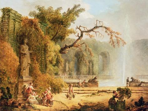 Romantic Garden Scene Reproduction procédé giclée