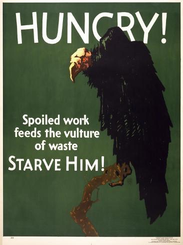 Hungry! Starve Him! Reproduction procédé giclée