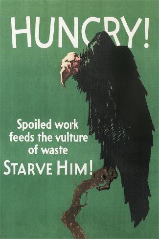 Hungry Vulture Poster Reproduction procédé giclée