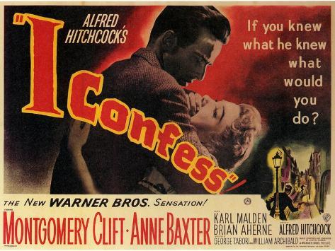 I Confess, 1953 Reproduction d'art