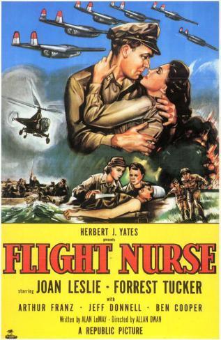 Infirmière de l'air|Flight Nurse Affiche originale