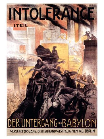 Intolerance, 1916 Reproduction d'art