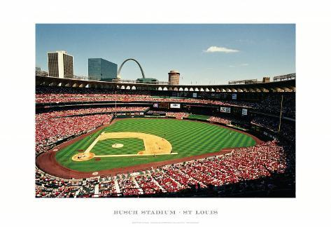 Busch Stadium, St Louis Reproduction d'art