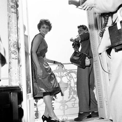 Italian Actress Sophia Loren at Cannes Film Festival May 1958 Reproduction photographique