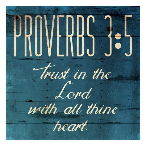 Trust In The Lord Clean Reproduction d'art