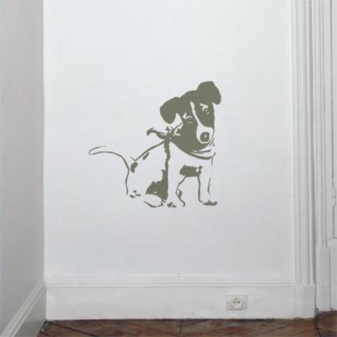 Jack Russel-Mouse Autocollant mural