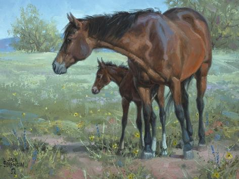 Under Mama's Watchful Eye Reproduction giclée Premium