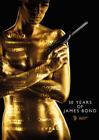 James Bond - 50Th Anniversary Affiche format carte