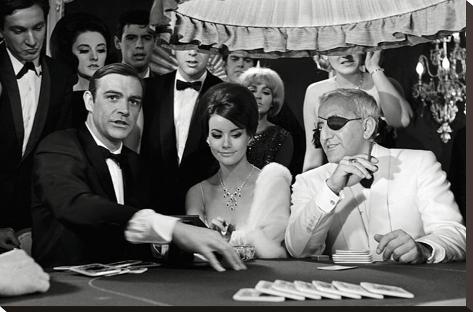 James Bond, jeu de poker Toile tendue sur châssis