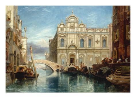 Scuola di San Marco, Venice, 1860 Reproduction procédé giclée