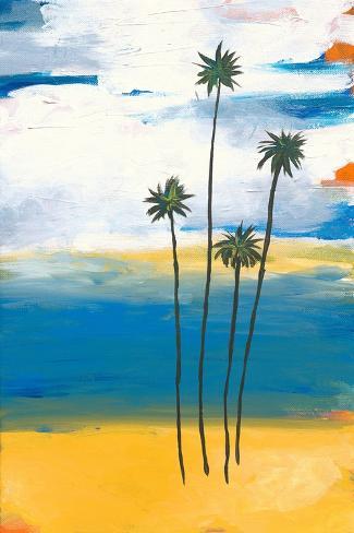 Quatre palmiers Reproduction d'art