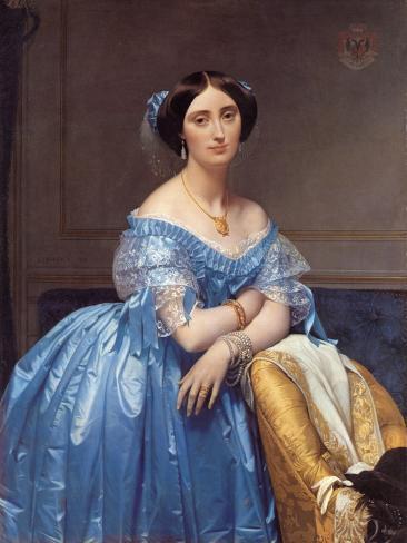 Portrait of the Princesse De Broglie, 1853 Reproduction procédé giclée