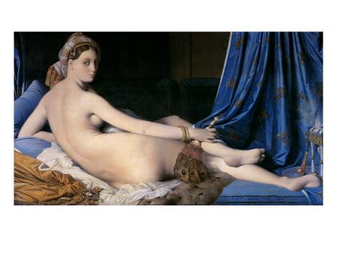 The Grand Odalisque Reproduction procédé giclée