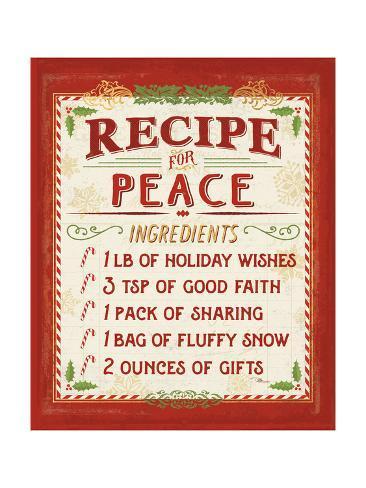 Holiday Recipe II Reproduction giclée Premium
