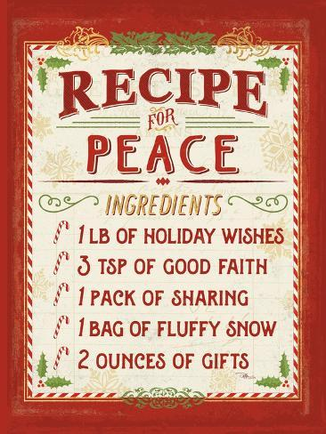 Holiday Recipe II Reproduction d'art