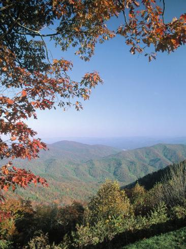 Green Knob Overlook, Blue Ridge Parkway, NC Reproduction photographique