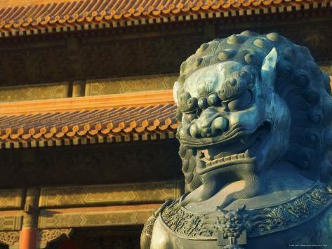 Statue forbidden city palace museum beijing china - Maison familiale design a beijing en china par arch studio ...