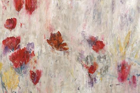 Red Pop Floral Reproduction procédé giclée
