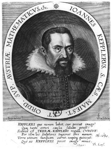 Johannes Kepler 1590 Reproduction procédé giclée
