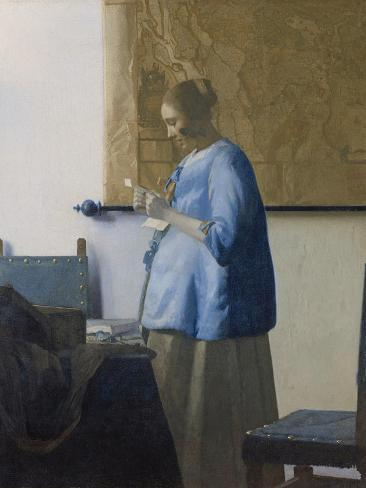 Woman Reading a Letter, C.1662-63 Reproduction procédé giclée