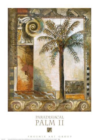 Palmier paradisiaque II Reproduction d'art