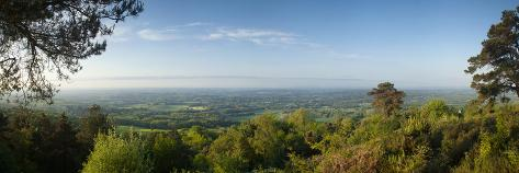 Leith Hill, Highest Point in SE England, View South Towards the South Down on a Summer Morning, Sur Reproduction photographique