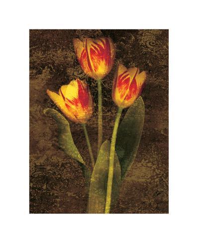 Trois tulipes Reproduction procédé giclée