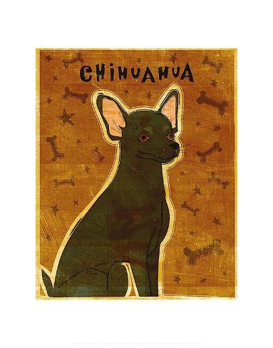 Chihuahua (black) Reproduction d'art