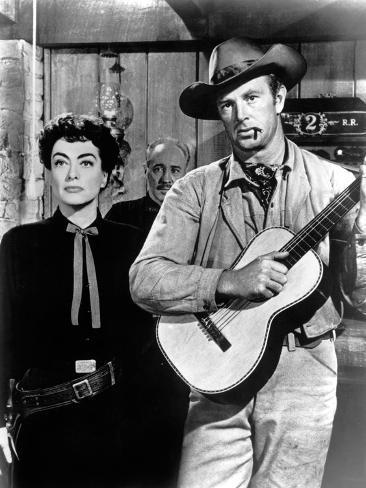 Johnny Guitar, Joan Crawford, Sterling Hayden, 1954 Photographie