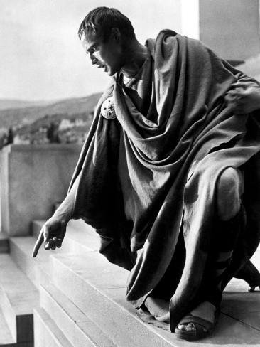 Julius Caesar, Marlon Brando, 1953 Photographie