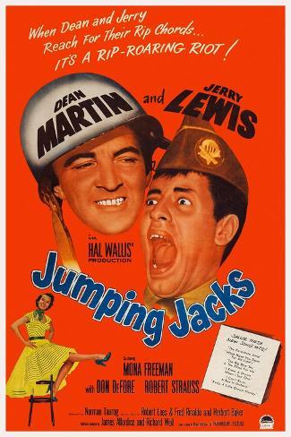 Jumping Jacks, Dean Martin, Jerry Lewis, Mona Freeman, 1952 Reproduction d'art