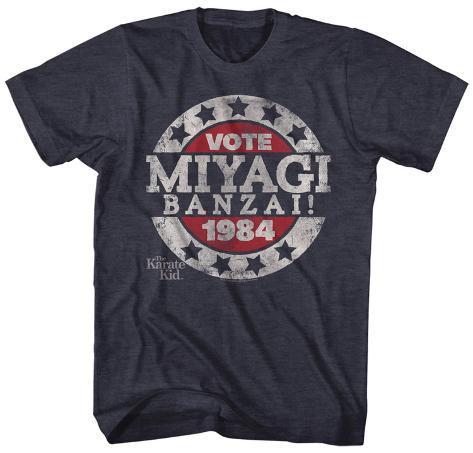 Karate Kid- Vote Miyagi Banzai Button T-shirt
